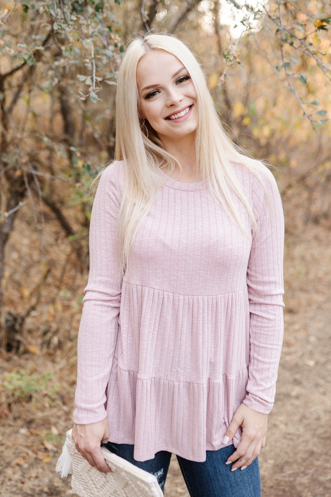 Pink Tiered Babydoll Top