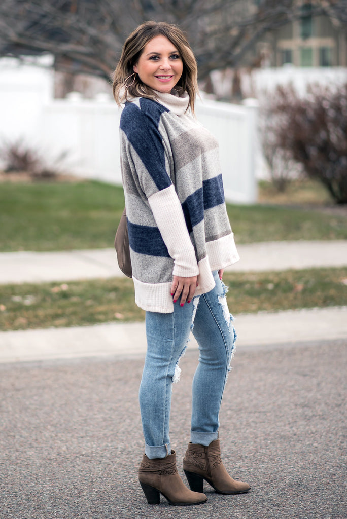 Arctic Air Navy Stripe Sweater