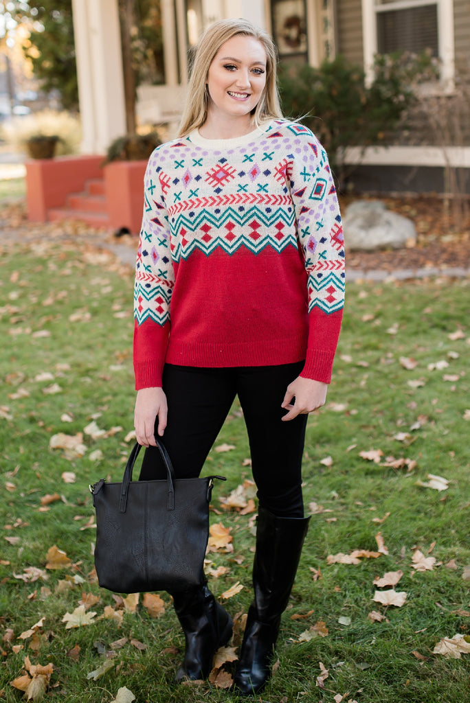 Deck the Halls Snowflake Sweater