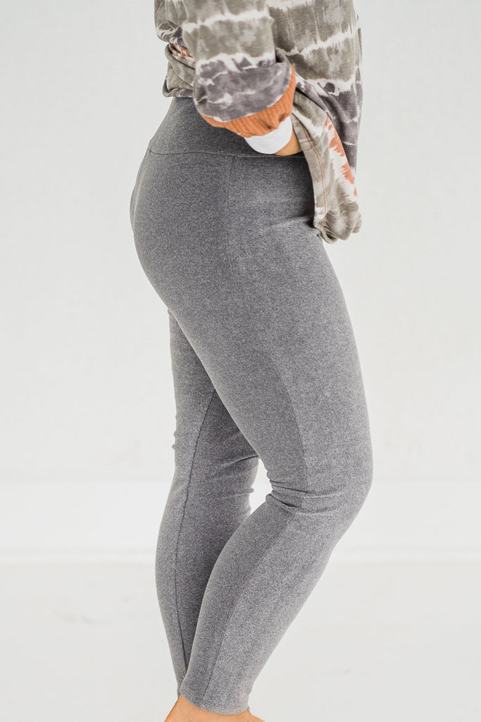 Fleece Be With You Gray Yoga Pants