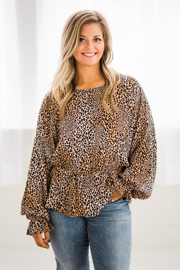 First Glance Leopard Blouse