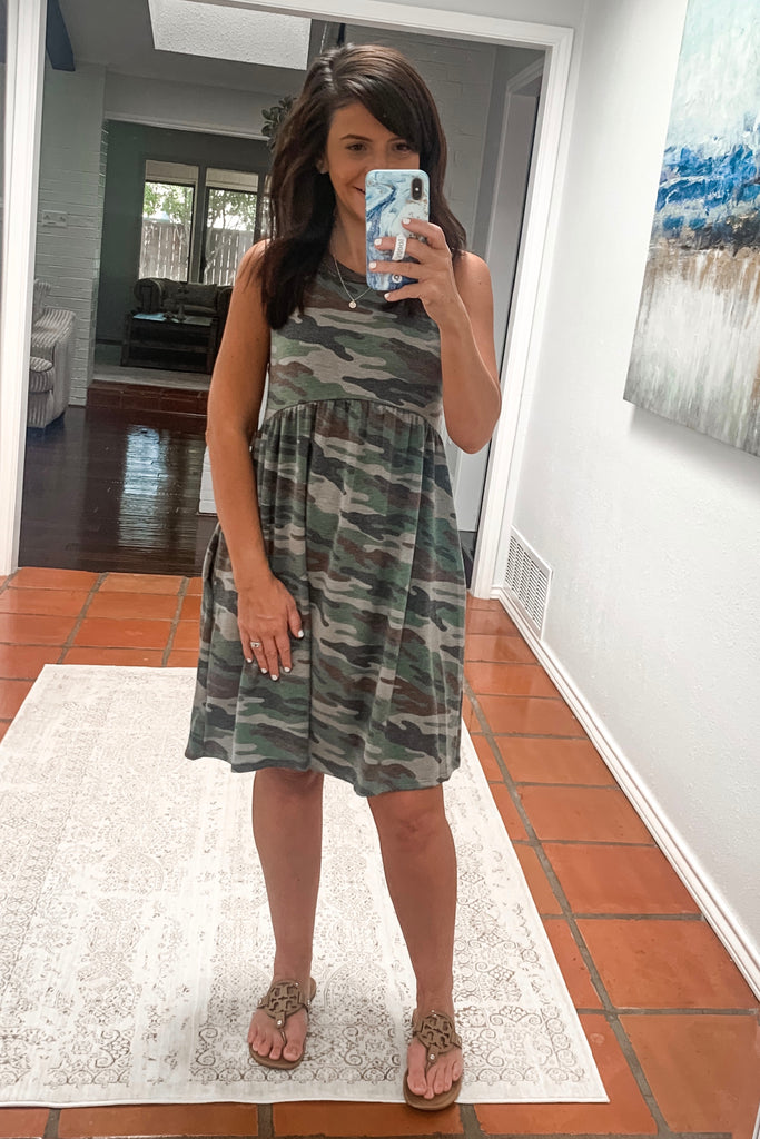 Sleeveless Camo Dress