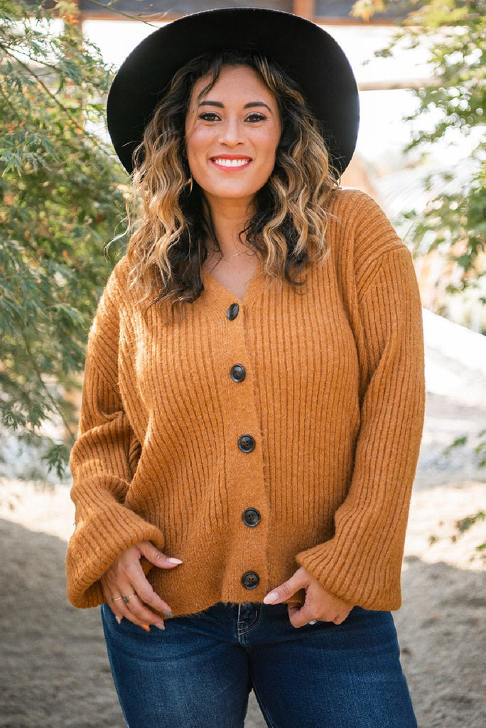 Wheat Fields Button-Up Cardigan