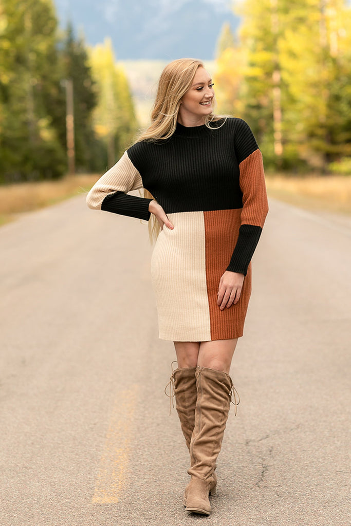 Wide-Eyed Girl Sweater Dress