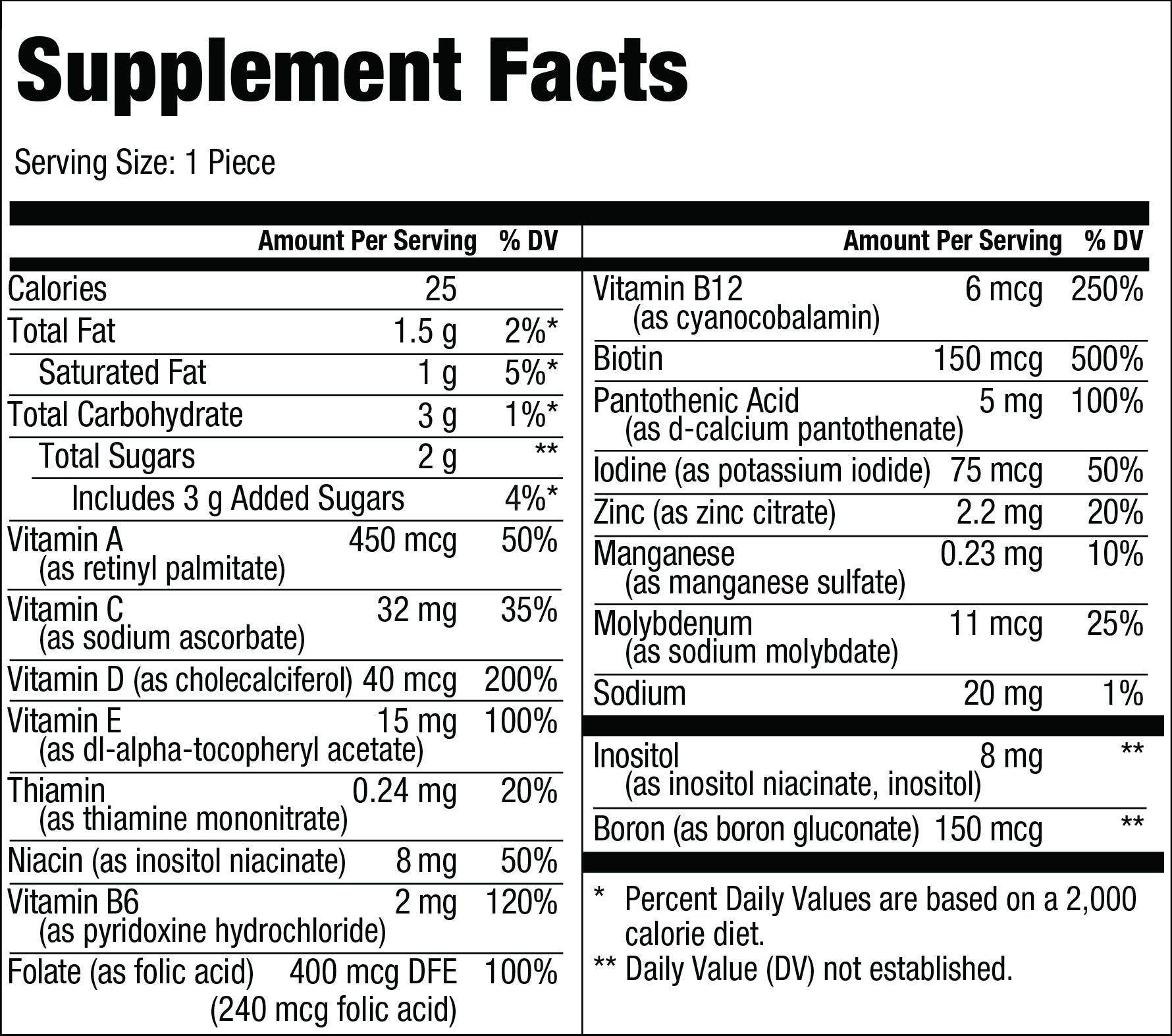 Hers Supplement Facts
