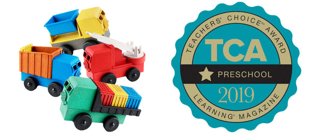 ECO-FRIENDLY TOYS, MADE IN AMERICA now on My Trending Toys. These STEM educational toy trucks encourage early childhood development of problem solving, creative play, and fine-motor skills in kids aged 3 and up.