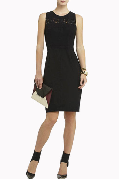 BCBG Black Cutout Cocktail Pencil Dress