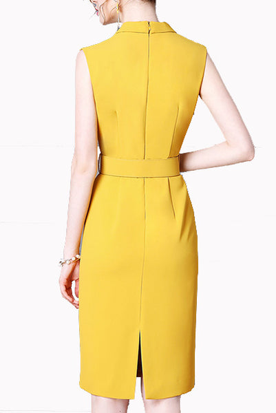 Lapel Pencil Dress