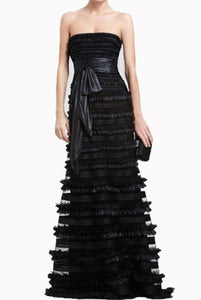 BCBG Maykala Strapless Petite Black Evening Gown