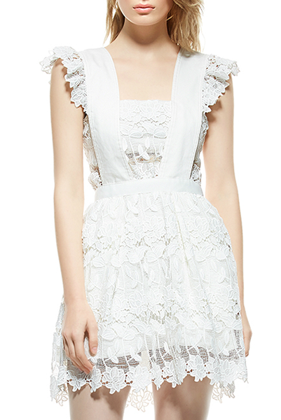 Petite A-Line Lace Dress