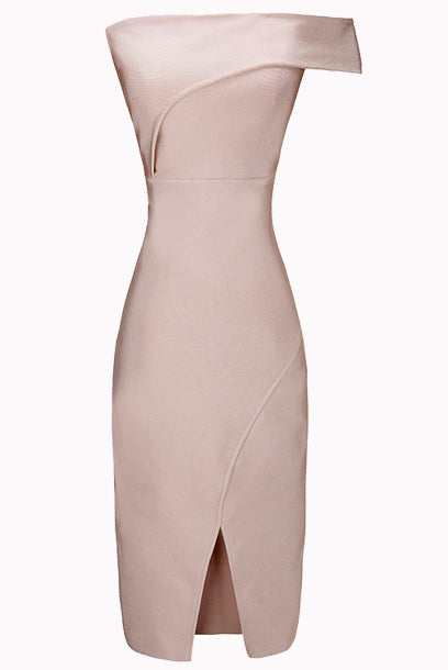 Petite Off-the-shoulder Bandage Dress