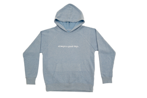 Unisex Youth Hoodie - Pacific Blue