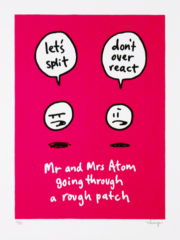 "Dave the Chimp ""Mr and Mrs Atom going through a rough patch"""