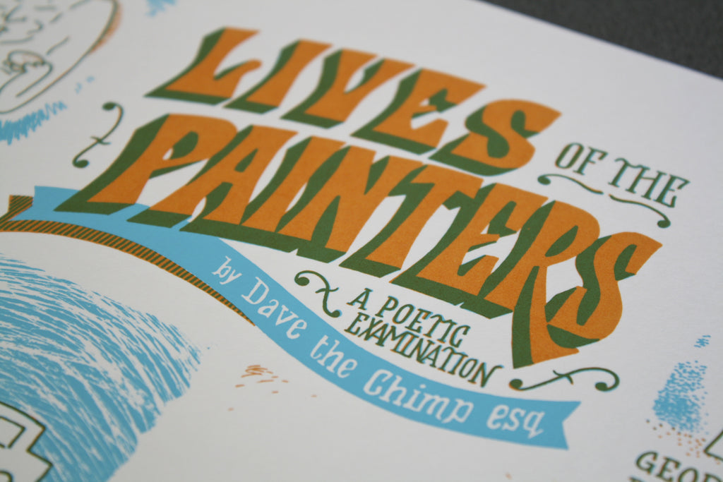 "Dave the Chimp ""Lives Of The Painters - A Poetic Examination"""