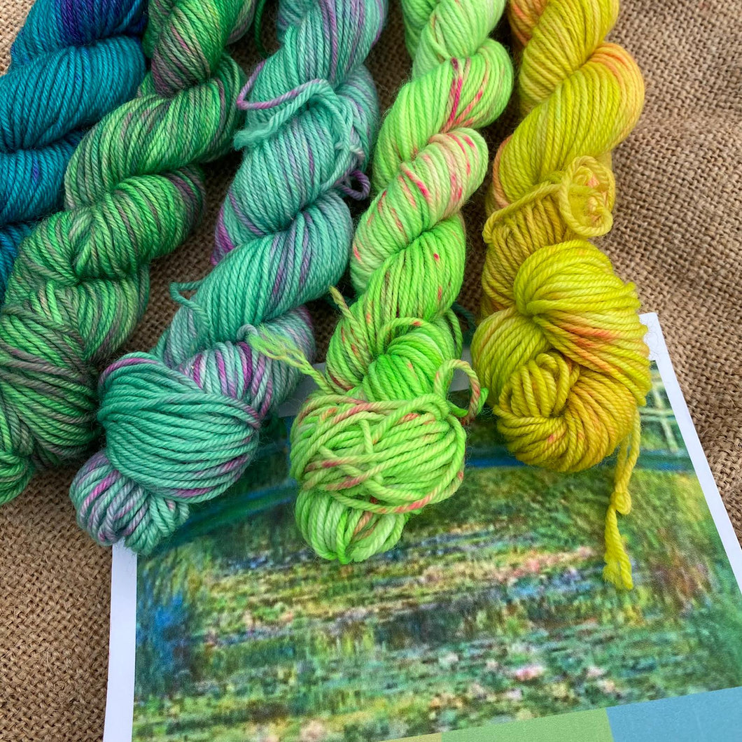 Monet's Water Lilies and Japanese Bridge - Mini Skein Set 100g