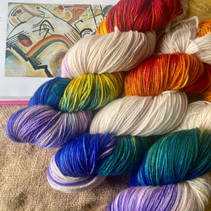 Kandinsky's Rainbow - Superwash Merino 4 ply