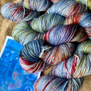 Marc Chagall's Artist and His Model - Superwash Merino 4 ply