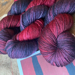 Mark Rothko's Reds and Purples - Superwash Merino 4 ply