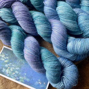 Spring: Monet's Water Lily Pond, Morning - Alpaca Merino 4 Ply