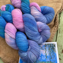 Load image into Gallery viewer, Monet's Water Lilies - Superfine Merino 4 ply