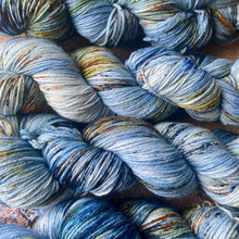 Load image into Gallery viewer, Jackson Pollock's Blue Poles - Superwash Merino 4 ply
