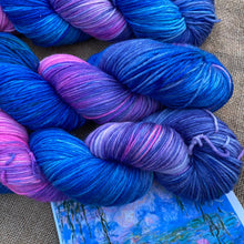 Load image into Gallery viewer, Monet's Water Lillies - Superwash Merino 4 ply