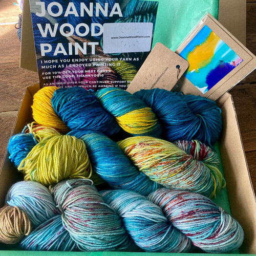 The Van Gogh Naturals Collection Box Set - Superwash Merino Sock 4 ply - Joanna Wood Paint