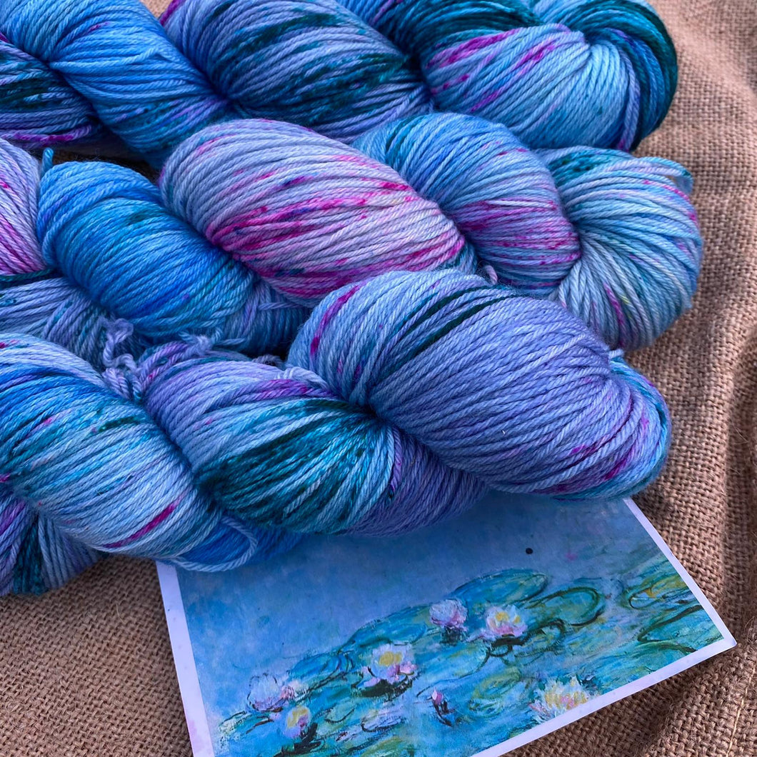 Monet's Water Lilies 1915 - Superwash Merino 4 ply