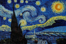 Load image into Gallery viewer, Van Gogh's Starry Night - Superwash Merino 4 ply