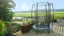 Load image into Gallery viewer, Exit Tiggy Junior Trampoline With Safety Net Ø140cm Black- Grey/Green