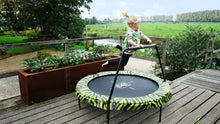 Load image into Gallery viewer, Exit Tiggy Junior Trampoline With Bar Ø140cm Black- Grey/Green