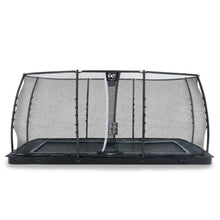 Load image into Gallery viewer, EXIT Dynamic ground level trampoline with safety net - black