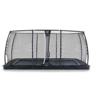 EXIT Dynamic ground level trampoline with safety net - black