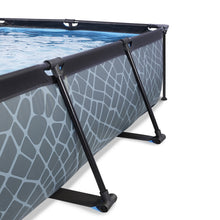 Load image into Gallery viewer, EXIT Stone pool 220x150x65cm, 300x200x65cm with canopy and filter pump - grey
