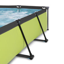 Load image into Gallery viewer, EXIT Lime pool 220x150x65cm, 300x200x65cm with canopy and filter pump - green
