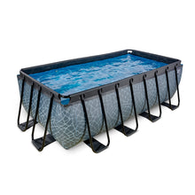Load image into Gallery viewer, EXIT Stone pool 400x200x122cm, 540x250x122cm with sand filter pump - grey