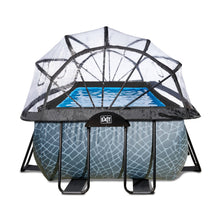 Load image into Gallery viewer, EXIT Stone pool 400x200x122cm, 540x250x122cm with dome and sand filter pump - grey