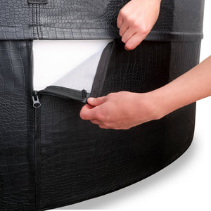 EXIT Leather Premium spa ø184x73cm - black