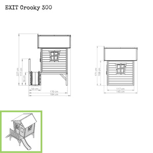 EXIT Crooky 300 wooden playhouse - grey-beige