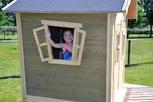 Load image into Gallery viewer, EXIT Crooky 300 wooden playhouse - grey-beige