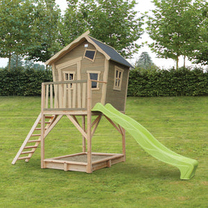 EXIT Crooky 700 wooden playhouse - grey-beige