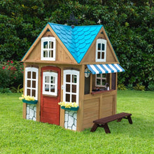 Load image into Gallery viewer, Seaside Cottage Outdoor Wooden Playhouse