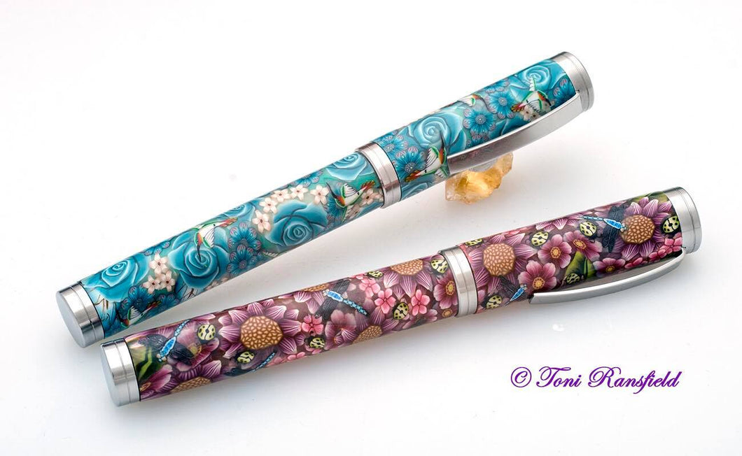 MK2 Shakespeare Fountain Pen Brushed by British Made Pen Kits - Taylors Mirfield