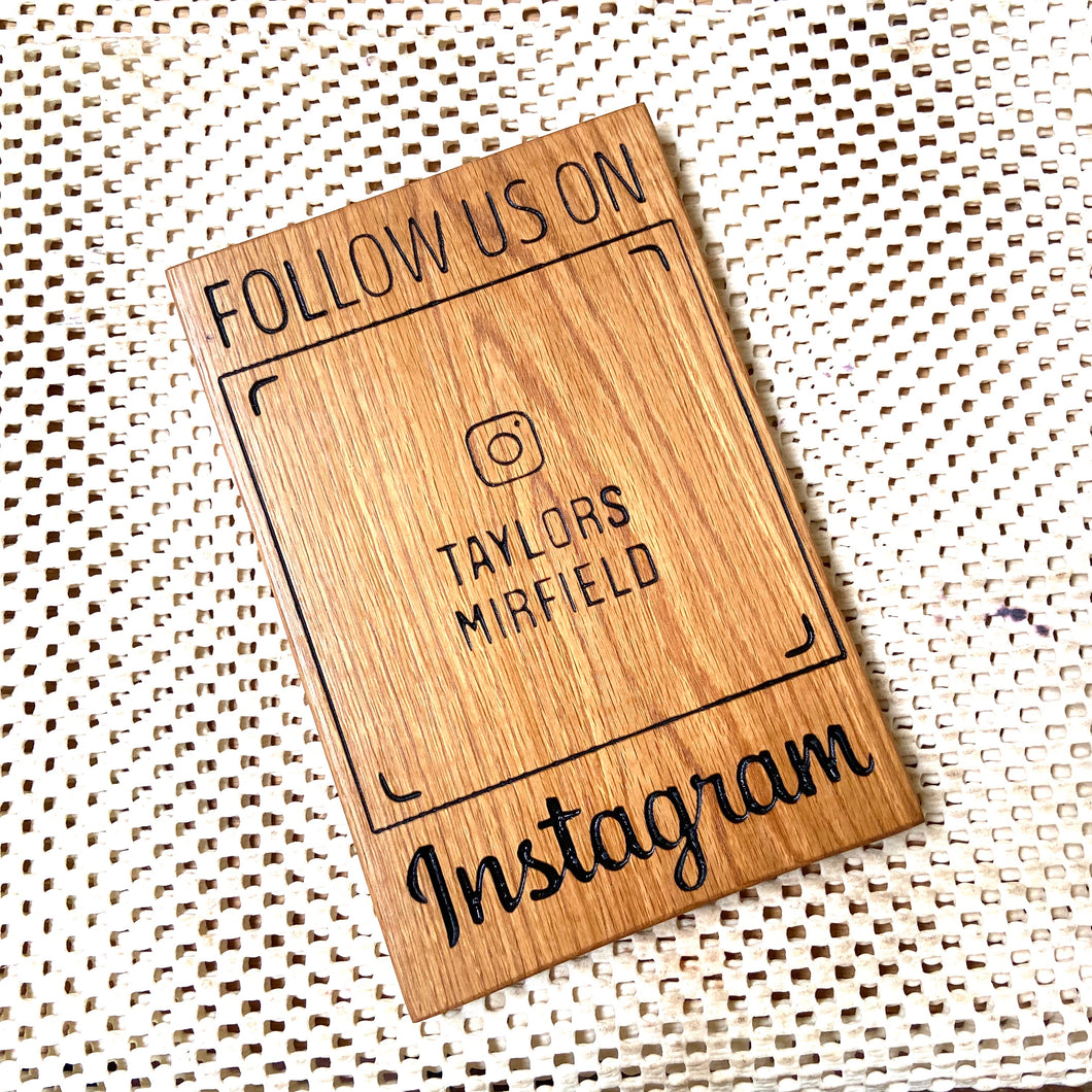 InstaSign | Custom Made Wooden Instagram Scan Signs