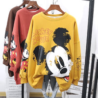 Disney 2020 New Sweatshirts Hoodies Women Autumn Mickey Mouse Cartoon Print Tops Long Sleeve Lady Hoodies Tees Hot Sweatshirts