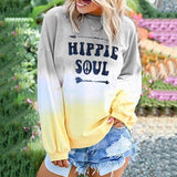 Plus Size Sweater Shirt For Women Long Sleeve Pullover Long Casual Hippie Soul Tops Streetwear Mujer Tshirt Clothes