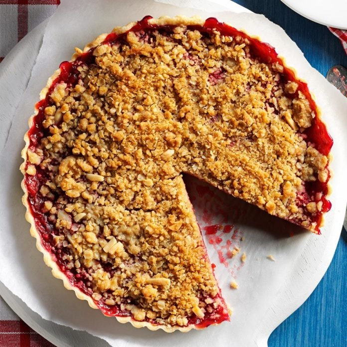 Recipes:  Cherry-Almond Streusel Tart