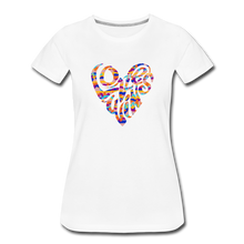 Load image into Gallery viewer, Love Wins Heart - Women's Neck T-Shirt - white