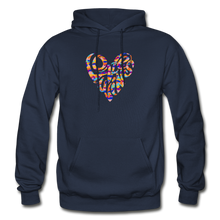 Load image into Gallery viewer, LOVE WINS EMBLEM HOODIE - Unisex/Men's - navy