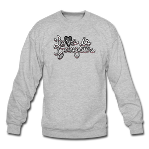 LOVE is Gangster - Men's - heather gray